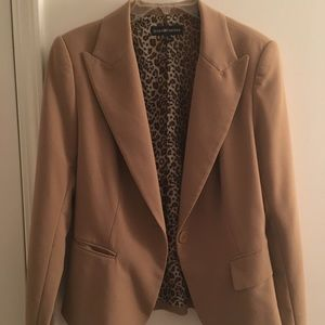 Other - Brown/Leopard Print Blazer with Slacks
